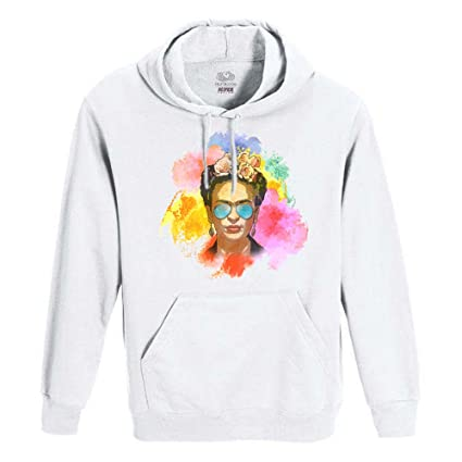 Roly Sudadera Blanca uomo-Donna Unisex Fruit of The Loom – Frida Kahlo con Gafas