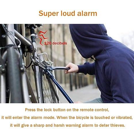 Amazon.com: Luces traseras de bicicleta recargables, alarma ...