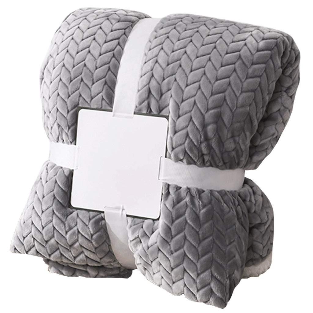 毛布 暖かい 柔軟軽量発熱 吸湿/静電気防止/洗える フランネル ブランケット 発熱効果 衿付き 厚手毛布 ふわふわ 柔らか 静電防止毛布 掛け布団 (Size : 200cm*230cm) B07R4981L2