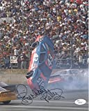 Signed Petty Photograph - 8x10 COLOR AMAZING CRASH POSE - JSA Certified - Autographed Photos