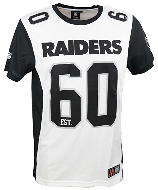 Majestic Camiseta NFL Oakland Raiders Dene Poly Mesh Blanco/Negro Talla: XXL (XX