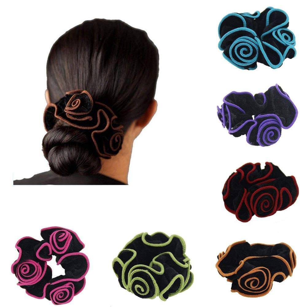 Uteruik Women Hair Scrunchies Headband Floral Print Cotton Headbands for Sport or Daily Wear 6pcs