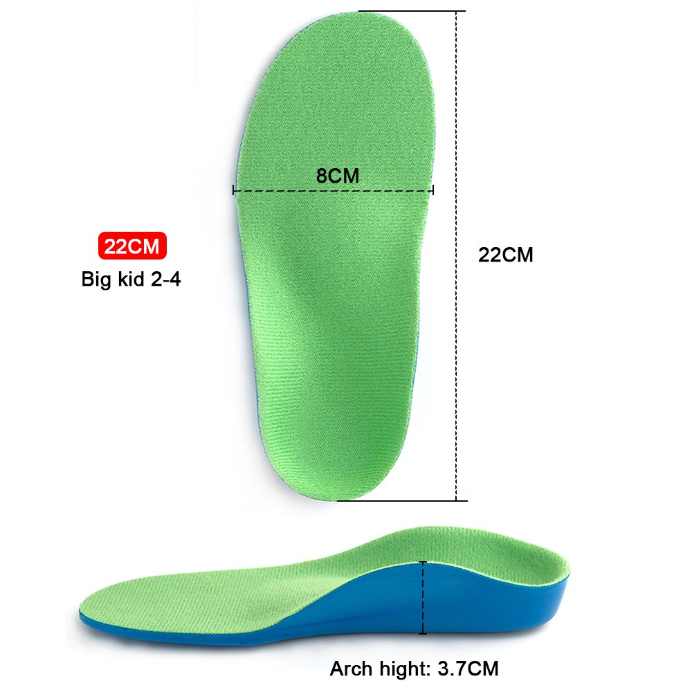 Beautulip Kids Orthotic Insoles - Children Flat Feet and Arch Support Inserts (22cm Big Kids 2-4) by Beautulip (Image #7)