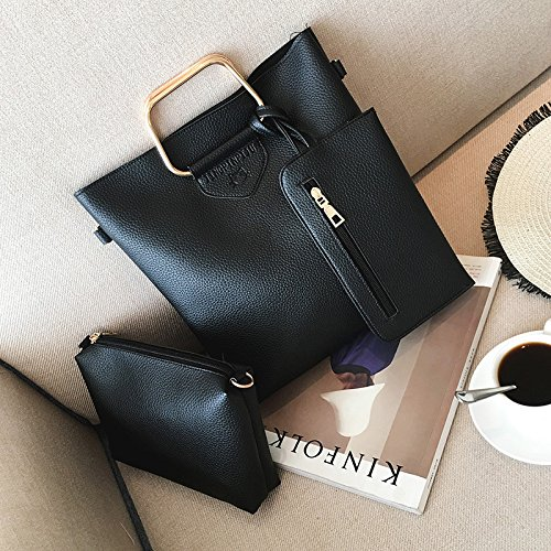 Hombro madre light de bandolera Bolso boutique Mano Grey claro patrón bolsa marrón hombro de mano litchi de tres hombro piezas Bolso a4nqfw0