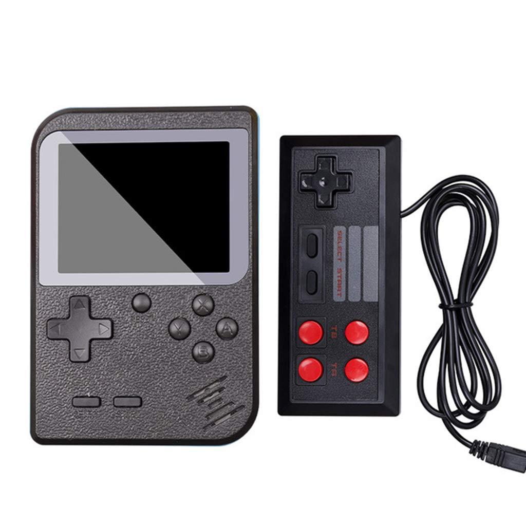Tebatu Game Console,Mini Handheld 8-Bit 2.8 in Color LCD Screen Built-in 400 Games Kid Video Handheld Game Player on TV
