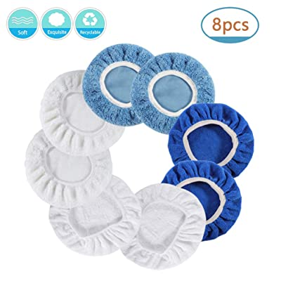 KAMNIA 5 Inch & 6 Inch Car Polisher Pad Bonnet, Waxers Bonnet Set, Woollen+Cotton+Coral Fleece+Microfiber for Most Car Polishers Buffing Pad Cover, Pack of 8 Pcs(2 Pcs for Each): Automotive [5Bkhe0800937]