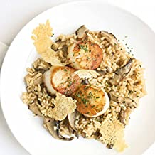 Jumbo Scallops with Wild Mushroom Risotto and Truffle Oil by Chef'd (Dinner for 2)