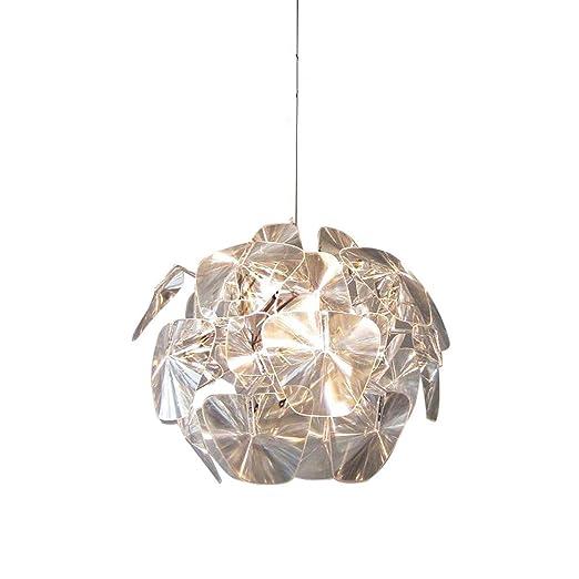 Louvra Lámpara de Techo Luz Cristal Colgante 1*E14 Casquillo ...