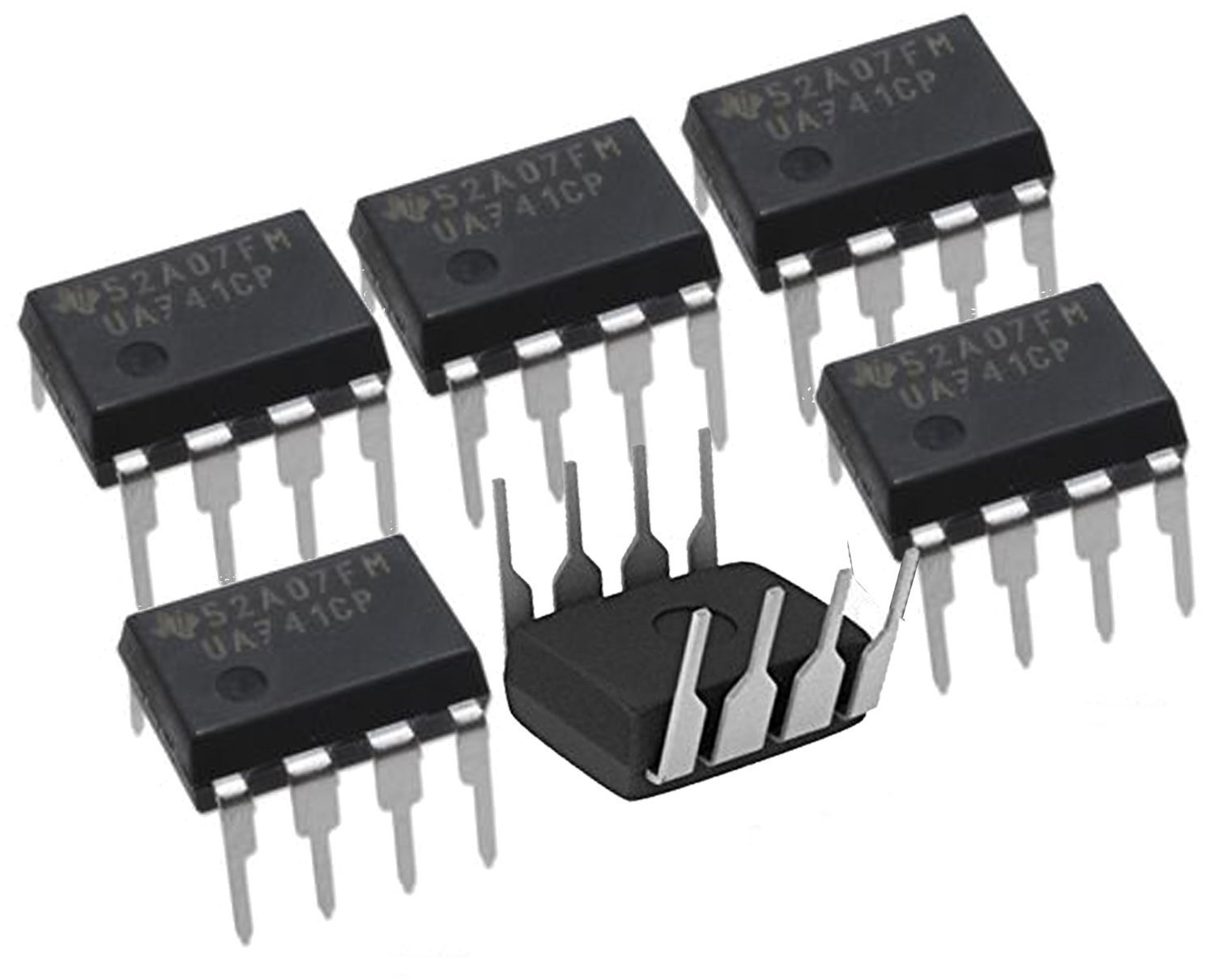 Texas Instruments 6 Pieces Ua741cp Ic Opamp Gp The 741 Is A Common General Purpose Operational Amplifier 1mhz Sgl Lp 8dip Ua741 Linear Amplifiers Instrumentation