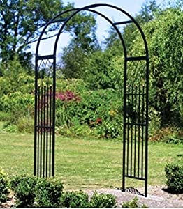 USA Premium Store Metal Garden Arbor Arch Trellis Steel Yard Outdoor Patio  Decor Weather Resistant