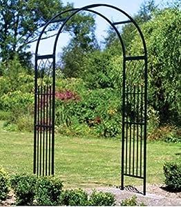 USA Premium Store Metal Garden Arbor Arch Trellis Steel Yard Outdoor Patio  Decor Weather Resistant