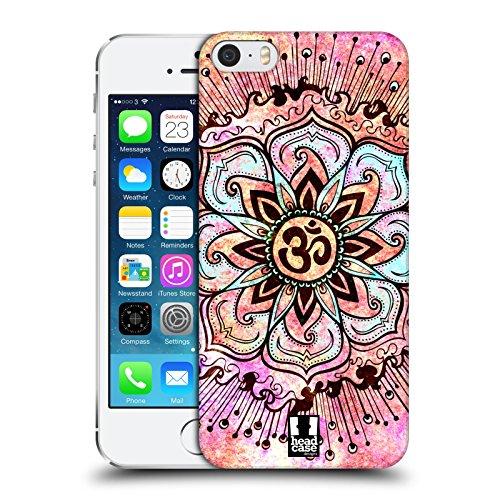 Head Case Designs Rosa Farbspritzer Om Zeichen Snap-on Schutzhülle Back Case für Apple iPhone 5 5s