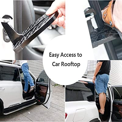 Buy PSAUH Car Roof Rack Step, Car Door Stepper Multifunction Foldable Car  Doorstep with Safety Hammer Function, Non-Slip Foot Pedal Ladder Access to  Rooftop for Truck, SUV, RV, Off-Road Online in Kazakhstan.