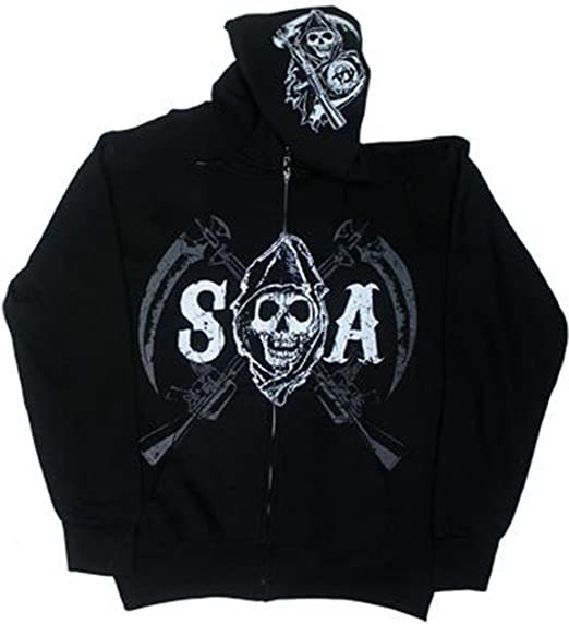 NEW SONS OF ANARCHY SOA CHAPTERS CITIES SAMCRO LOGO REAPER BIKER HOODIE S-3XL