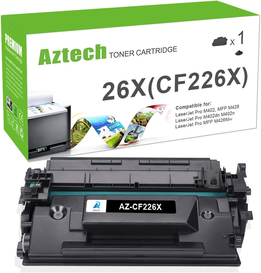Aztech - Tóner compatible con HP 26A CF226A (HP 26X CF226X) para ...