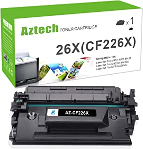 Aztech Compatible Toner Cartridge Replacement for HP 26X CF226X 26A CF226A M426fdw M426fdn M426dw M402n M402dw M402dn (Black, 1-Packs)