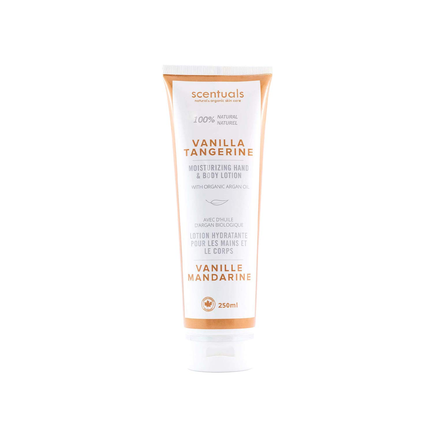 Scentuals 100% Natural Vanilla Tangerine Hand & Body Lotion, White, 8.45 Fluid Ounce
