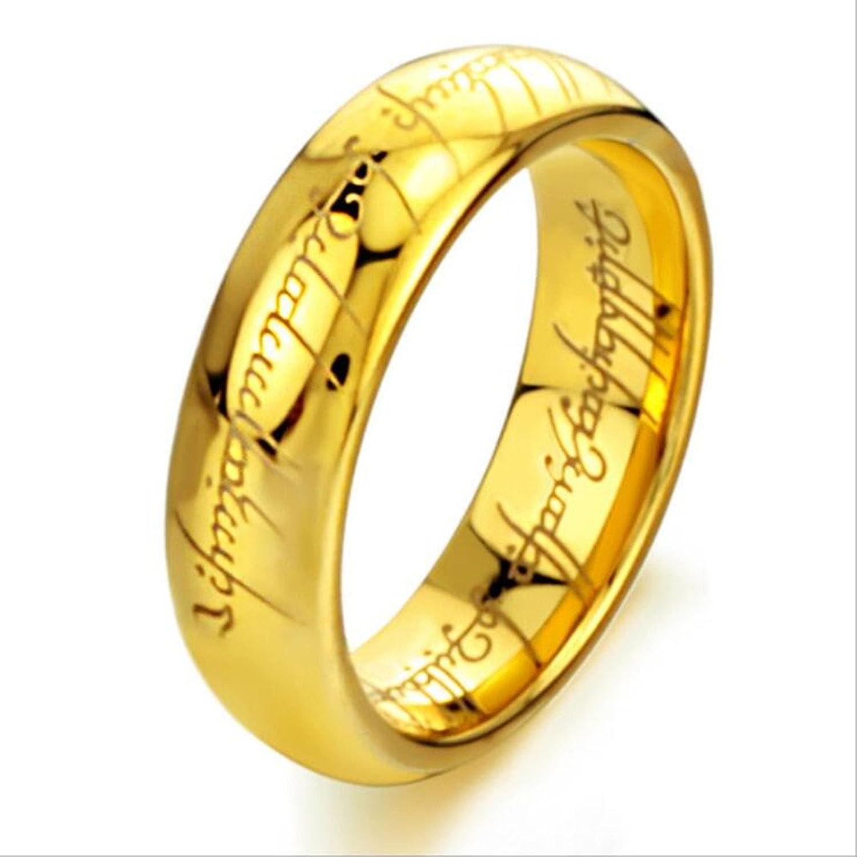 Amazon Gold Plated 18k Elvish Script Tungsten Carbide Uni