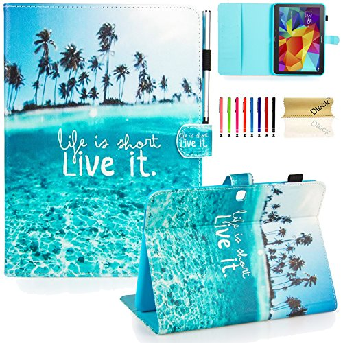 Galaxy Tab 4 10.1 Case,T530 Case,Dteck(TM) Slim Folio Stand Case with Cards Slots [Auto Wake/Sleep Feature] Magnetic Smart Shell Cover for Samsung Galaxy Tab 4 10.1 SM-T530NU T530 T531 T535,Live it