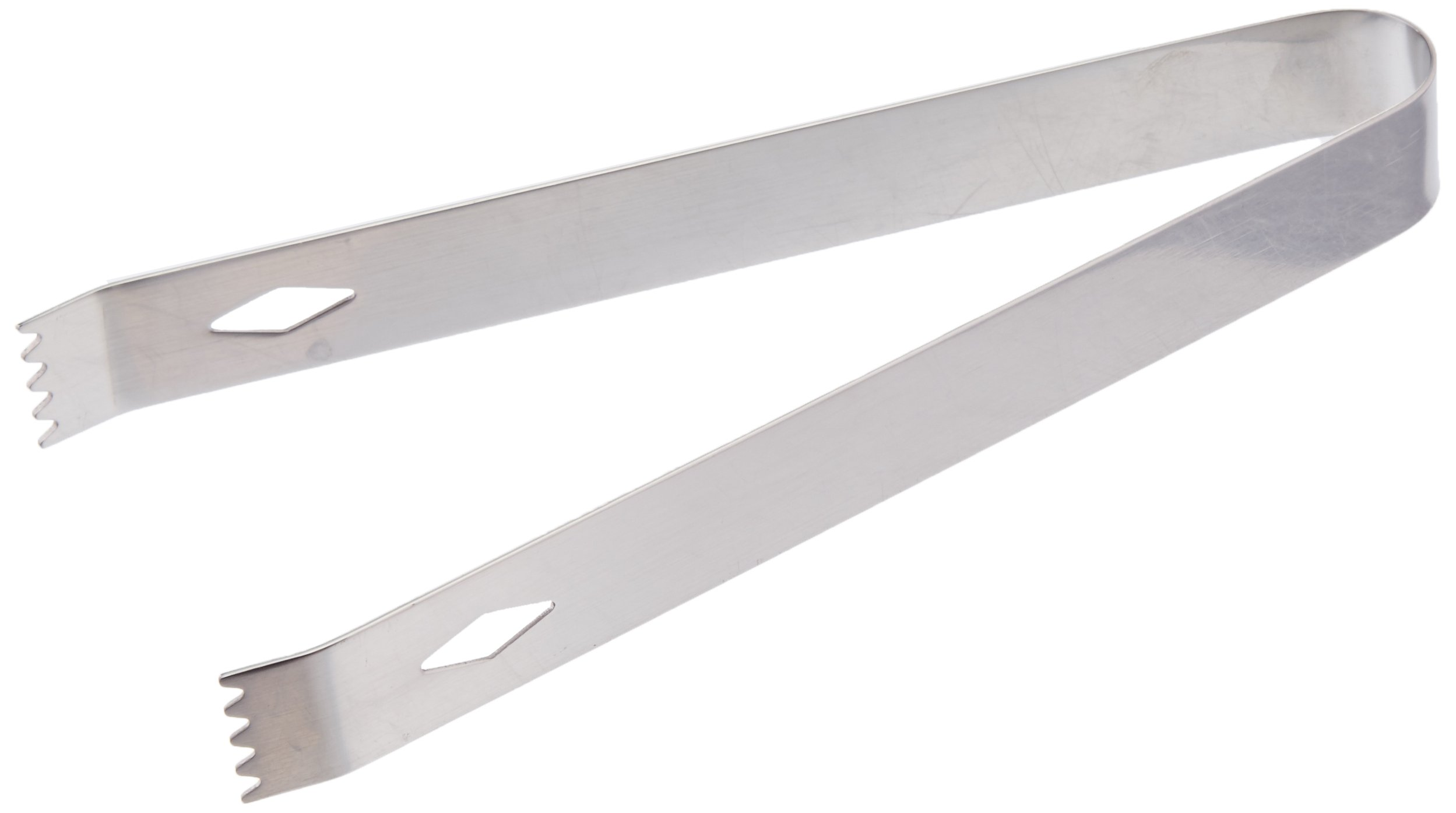 Tablecraft H1246 Stainless Steel Ice Tongs, 6.75'', Metallic