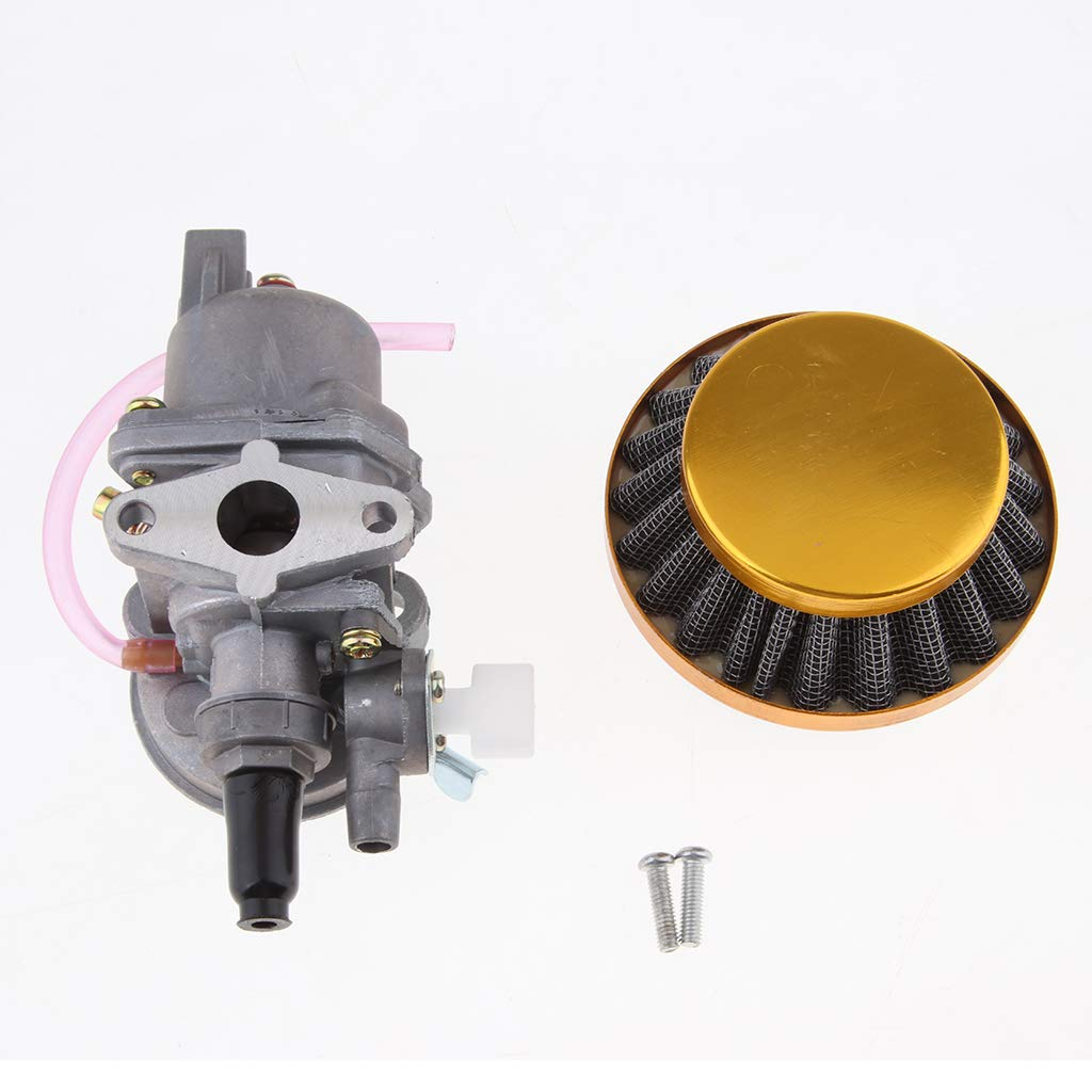 14mm Red 30mm MagiDeal Universal Motorcycle Carburetor /& Air Filter // 14mm Carburetor /& Air Filter for 47cc 49cc Pit Bike 2 Stroke Engine