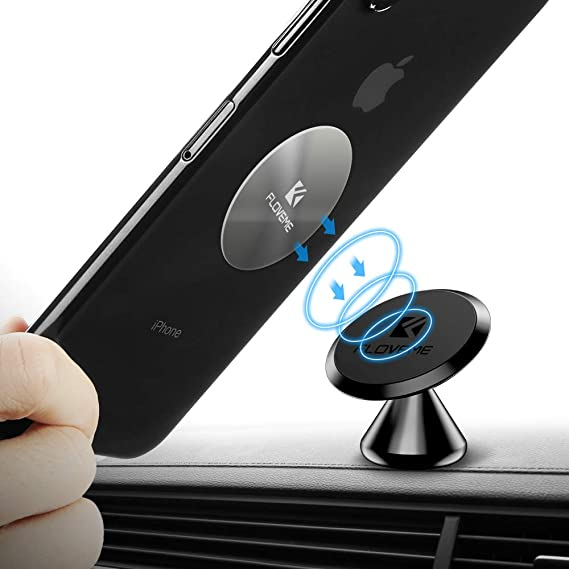 Magnetic Cell Phone Mount >> Magnetic Phone Car Mount Adhesive Floveme 360 Rotate Magnet Cell Phone Holder For Car Panel Dashboard Hands Free Magnetic Phone Mount Compatible