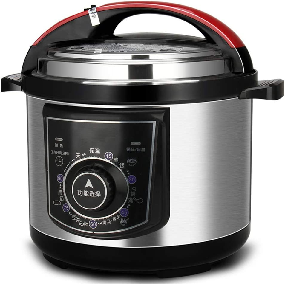 ZBQ Electric Multi Cooker, Programmable Pressure Cooker, Brushed Stainless Steel, Pressure Cooker Electric Multi-Cooker, for Kitchen Dining Room