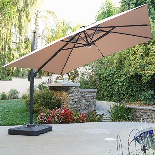Sonoma Outdoor Furniture (Sonoma Outdoor Water Resistant Canopy Umbrella w/ Solar Light Stip (Sand))