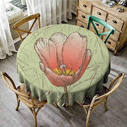 - 100% Polyester Washable Table Cloth for Circular Table 47