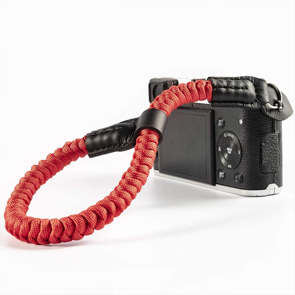 AKDSteel Wrist Camera Strap for SLR//DSLR Camera Professional Soft Hand Grip Red and Blue