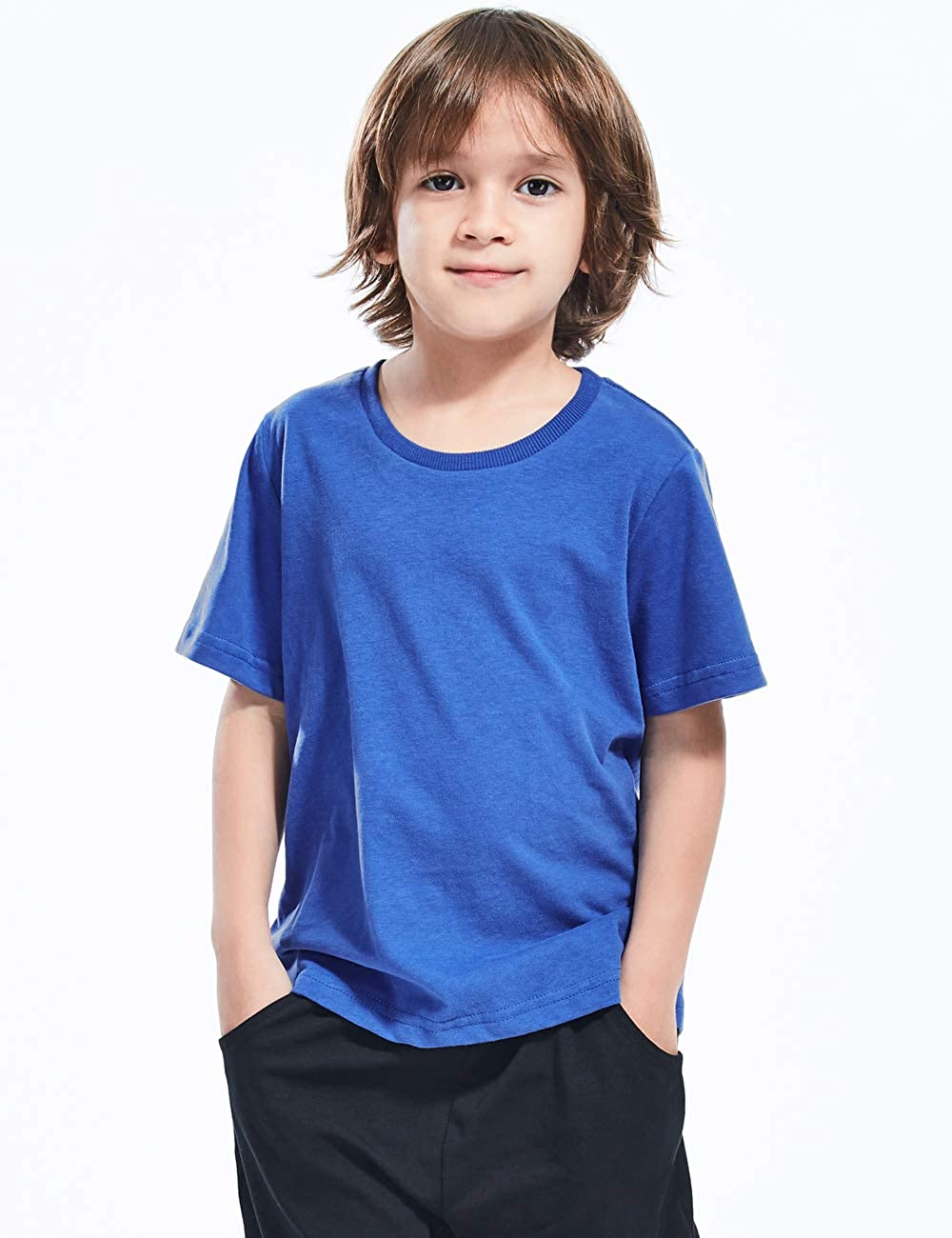MOMBEBE COSLAND Baby/&Kids Plain T-Shirt Age 1-16 Years