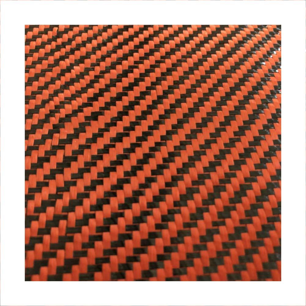 SOFIALXC 3k Carbon Fiber Fabrics Cloth 500mm Wide and 1000mm Long for Cars, Rc (Orange Black) by SOFIALXC