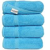 SALBAKOS Cambridge, Agua (Aqua), Bath Towel - Qty 4, 1