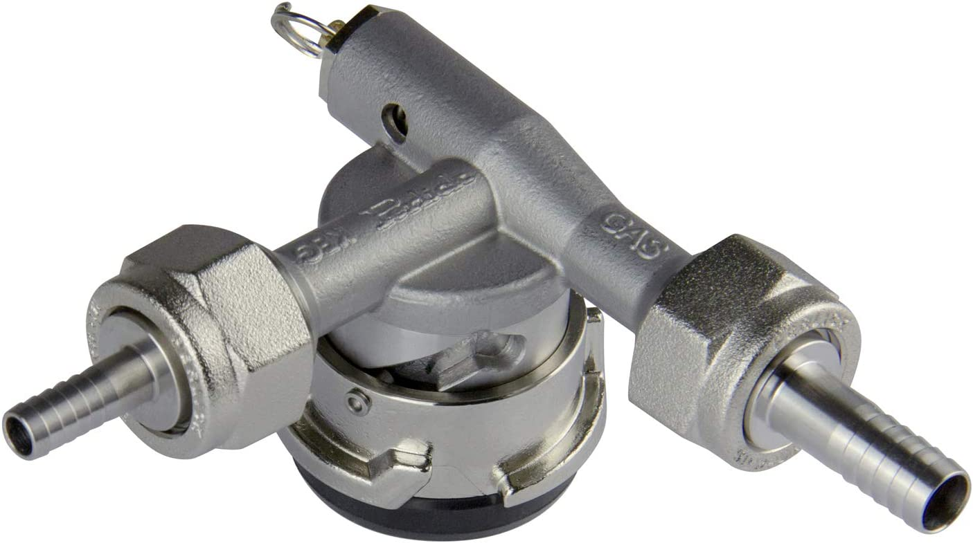 Perlick Lo-Boy Low Profile D System Keg Tap Coupler w/Pressure Relief - 304 Stainless Steel