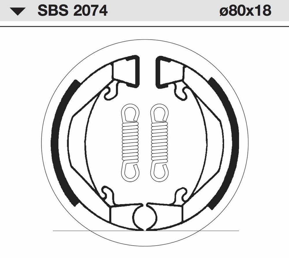 1975 SBS Bremsbelag VORNE Honda PF 50 M Nocio Bj