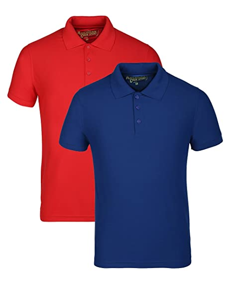 619e750b0919 AMERICAN CREW Men's Polyester Honeycomb Dry Feel Polo T-Shirt (Pack ...