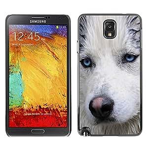 Vortex Accessory Carcasa Protectora Para Samsung Note 3 N9000 N9002 N9005 - Light Blue Eyes Muzzle Husky Dog Wet -