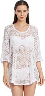 product image for JORDAN TAYLOR Bell Sleeve Crochet Tunic