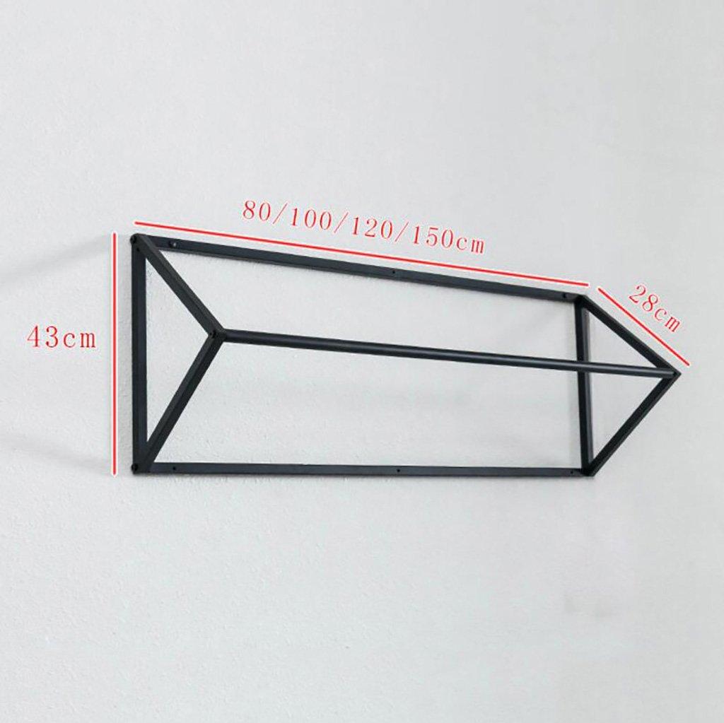 größe : 80cm High-End Damen Kleidung Kleiderbügel LXSnail Persönlichkeit Wand Kleidung Racks Wand-Damen Kleidung Display Racks Regale Kleiderständer