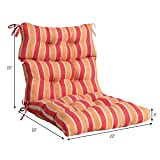 """Giantex Tufted Outdoor Patio Chair Cushion 5"""", High Back Chair Cushion with 4 String Ties, Patio Seat Cushion for Swing Bench Wicker Seat Chair"""