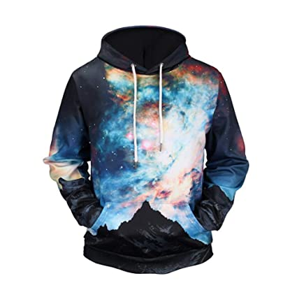 Sudaderas con capucha para hombre, moda Impresos en 3D con capucha para galaxias Hombres /