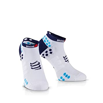 Compressport Calcetines ProRacing V3.0 Run Lo Ironman 2017 Azul - T1: Amazon.es: Deportes y aire libre