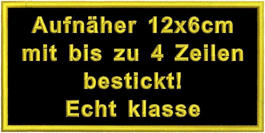 PACOTEX Namensschild bestickt mit eigenem Namen personalisiert Stickschild in vielen Gr/ö/ßen und Farben mit Klett