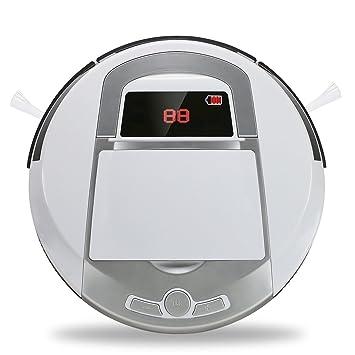 Aspiradora inteligente, Robot aspiradora para pisos, Robot barredor inalámbrico con ponderosa aspiradora casera robótica. Blanco (3A): Amazon.es: Hogar