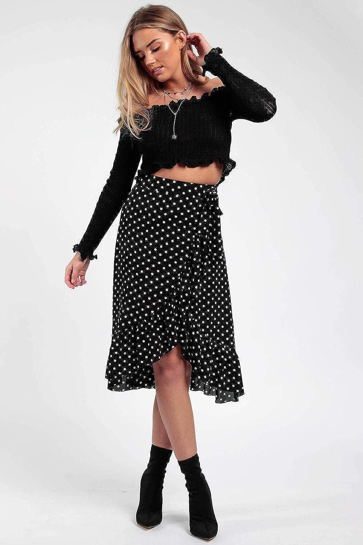 348e041f2 Momo&Ayat Fashions Ladies Tie Leopard Print Wrap Frill Midi Ruffle Skirt US  2-10 at Amazon Women's Clothing store: