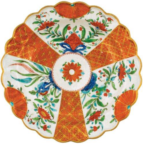 Caspari Die-Cut Placemats, Orange Floral Plate, Set of 4
