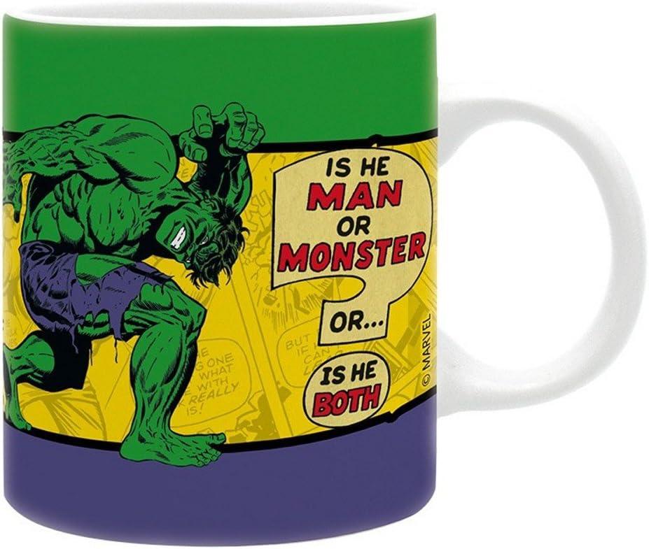Marvel Comics Hulk King Size - Taza (cerámica, en caja de regalo), diseño de Hulk: Amazon.es: Hogar
