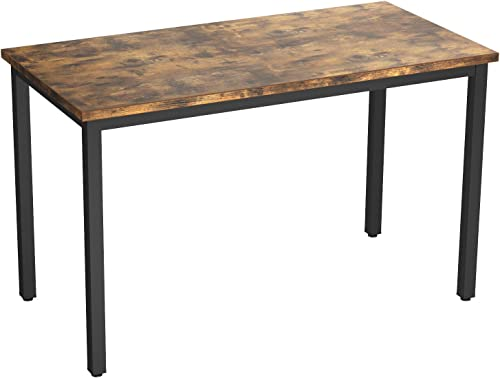 IRONCK Computer Desk, 47 Office Desk with 0.7 Thicker Tabletop, 1.6 Sturdy Metal Frame, Simple Study Table, Industrial Style Writing Study Table for Home Office