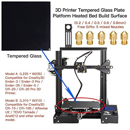 Kathariiy Placa De Vidrio Templado para Impresoras 3D, Plataforma ...