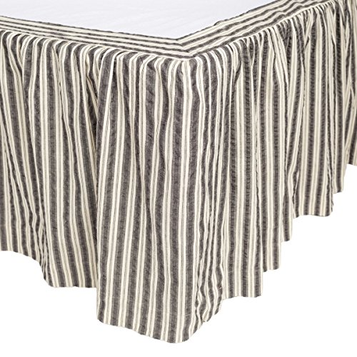 - VHC Brands Farmhouse Ashmont Grey Bed Skirt, Twin